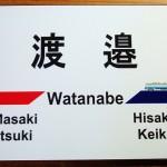 伊豆急行の駅名標表札・ワンポイントイラスト付き